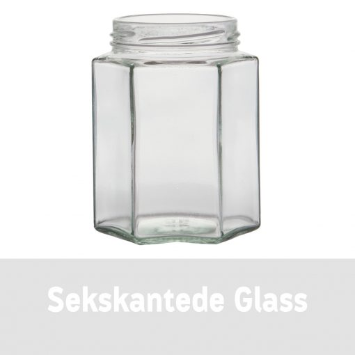 Sekskantede glass