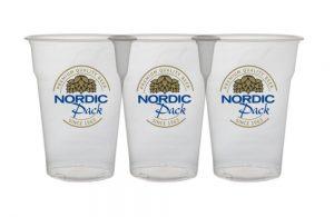 Plastglass, ølbeger i plast